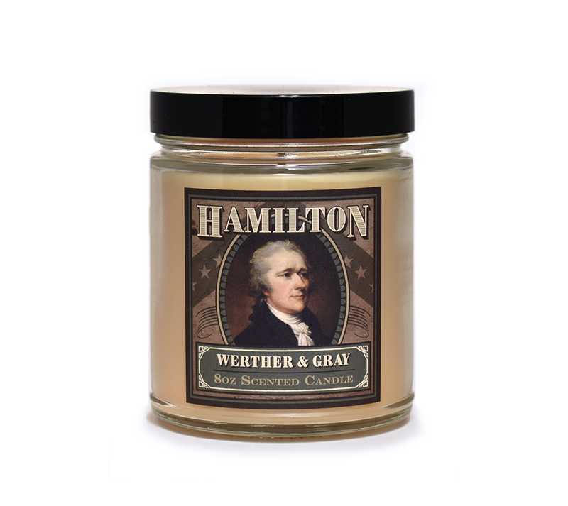 HAMILTON, Scented Candle, 8oz Jar - Werther & Gray Artisan