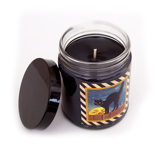 BLACK CAT, Halloween Scented Candle, 8oz Jar - Werther & Gray