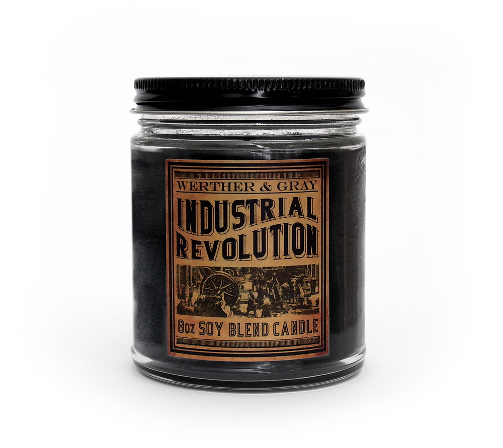 INDUSTRIAL REVOLUTION, Scented Candle, 8oz Jar - Werther & Gray