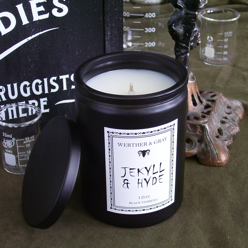JEKYLL & HYDE, 12oz Scented Candle - Werther & Gray