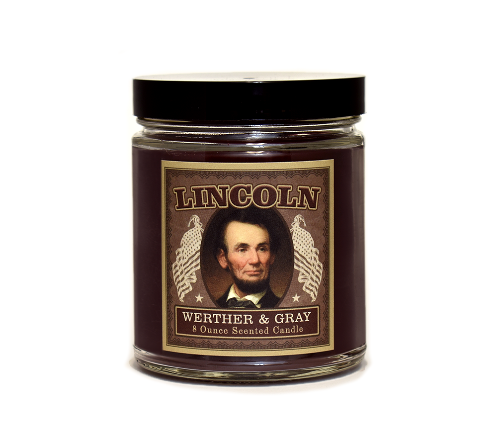 LINCOLN, Scented Candle, 8oz Jar