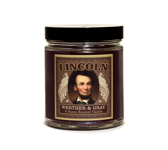 LINCOLN, Scented Candle, 8oz Jar - Werther & Gray Artisan