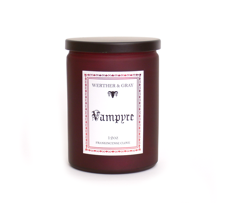VAMPYRE, 12oz Scented Candle - Werther & Gray Artisan