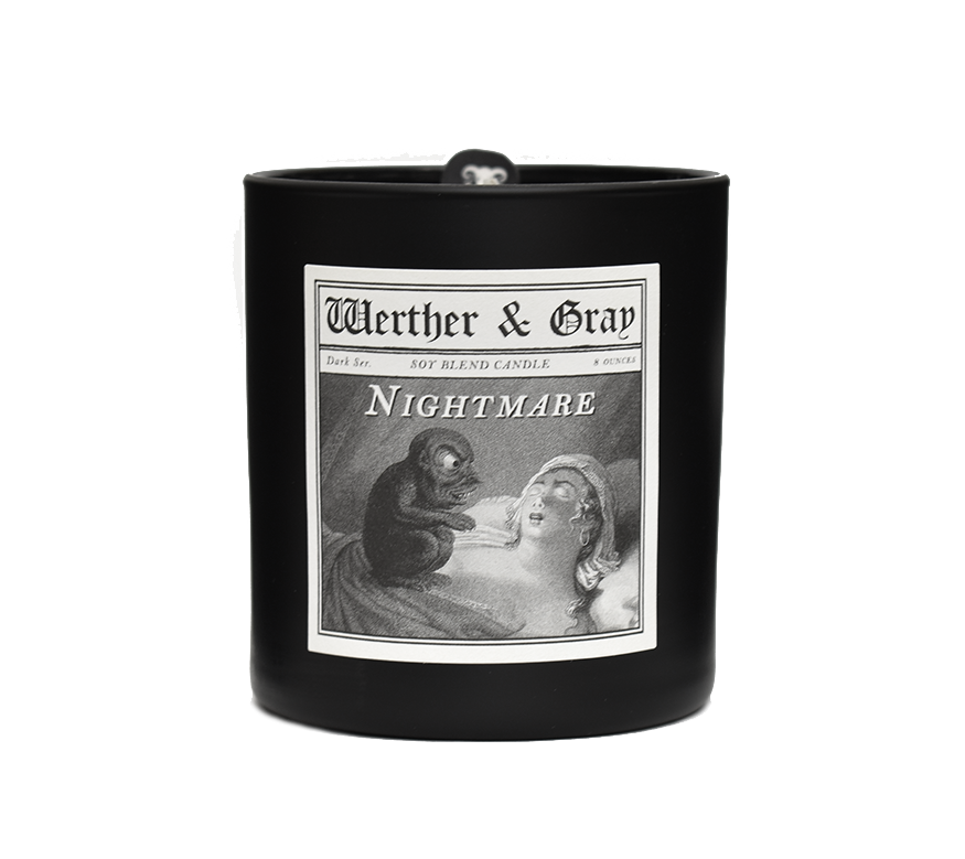NIGHTMARE, Scented Candle, 8oz Tumbler - Werther & Gray Artisan