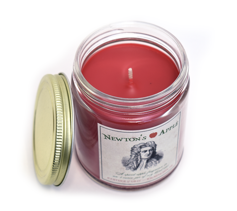 NEWTON'S APPLE, Scented Candle, 8oz Jar - Werther & Gray Artisan