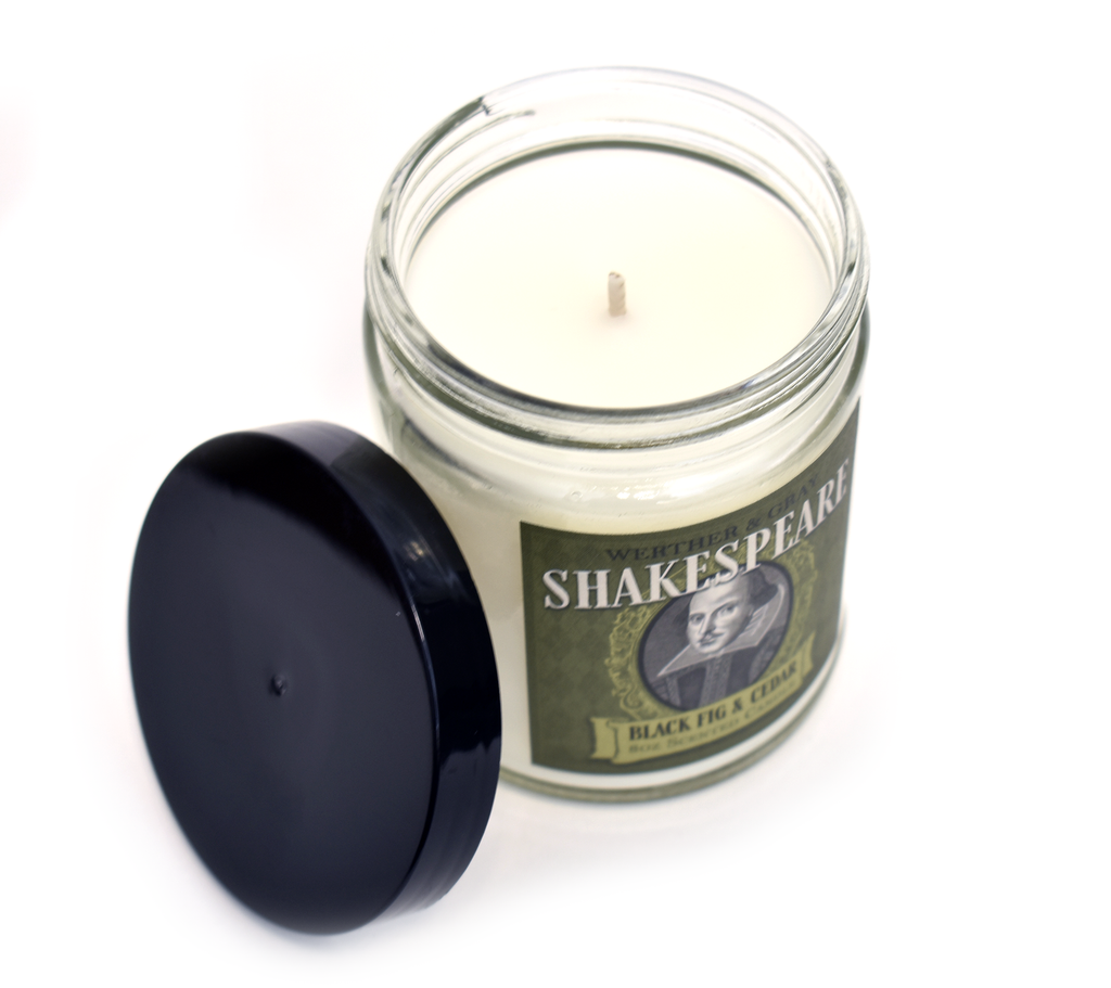 SHAKESPEARE, Scented Candle, 8oz Jar - Werther & Gray Artisan