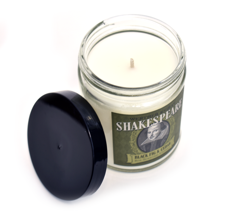 SHAKESPEARE, Scented Candle, 8oz Jar - Werther & Gray