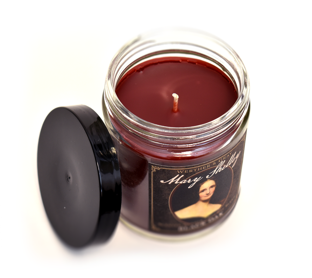 MARY SHELLEY, Scented Candle, 8oz Jar - Werther & Gray Artisan