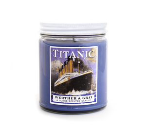 TITANIC, Scented Candle, 8 oz Jar - Werther & Gray Artisan