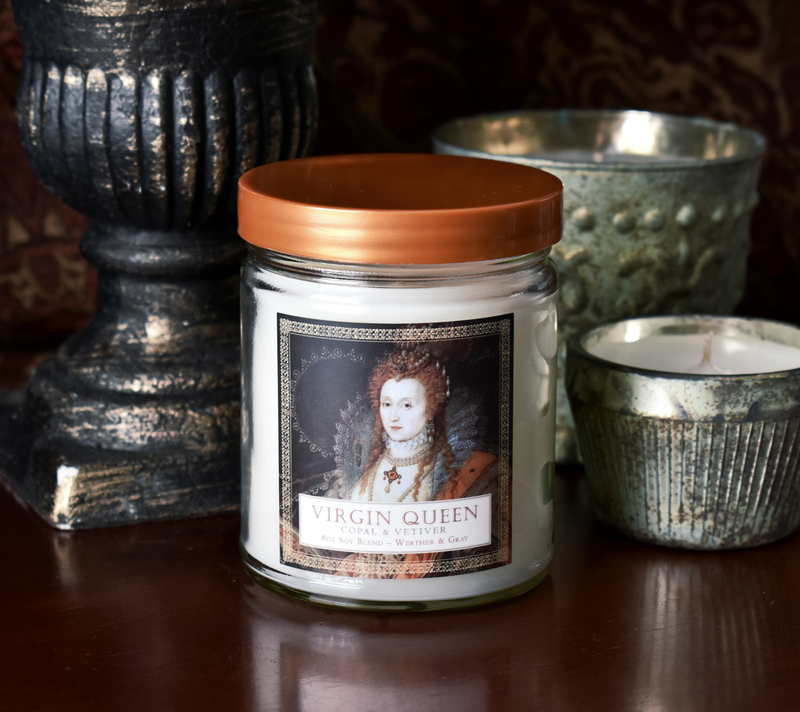 VIRGIN QUEEN, Scented Candle, 8oz Jar - Werther & Gray