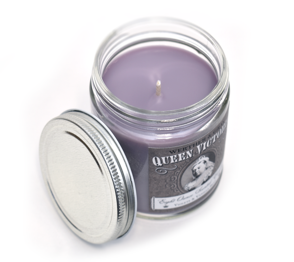 QUEEN VICTORIA, Scented Candle, 8oz Jar - Werther & Gray Artisan