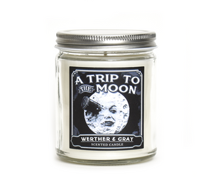 A TRIP TO THE MOON, Scented Candle, 8oz Jar - Werther & Gray Artisan