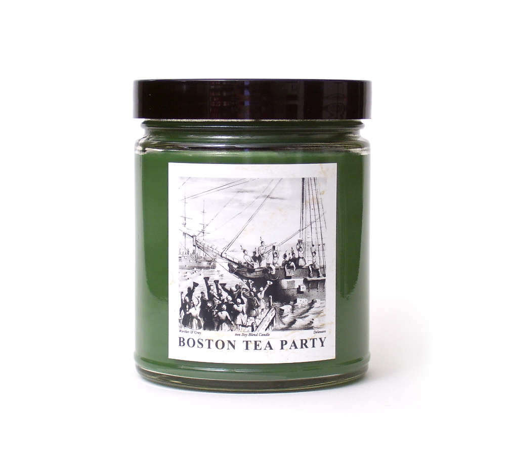 BOSTON TEA PARTY, Soy Blend Candle, 8 oz Jar - Werther & Gray