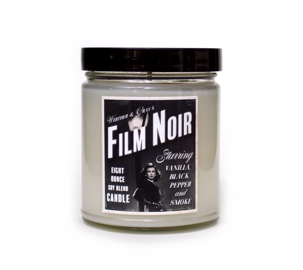 FILM NOIR, Scented Candle, 8 oz Jar - Werther & Gray