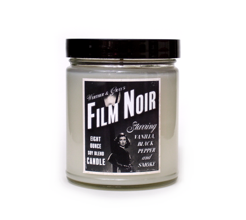 FILM NOIR, Soy Blend Candle, 8 oz Jar