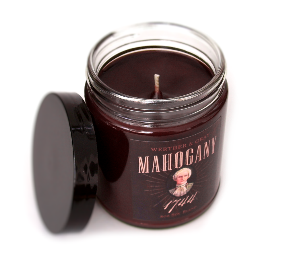 MAHOGANY 1744, Scented Candle, 8 oz Jar - Werther & Gray