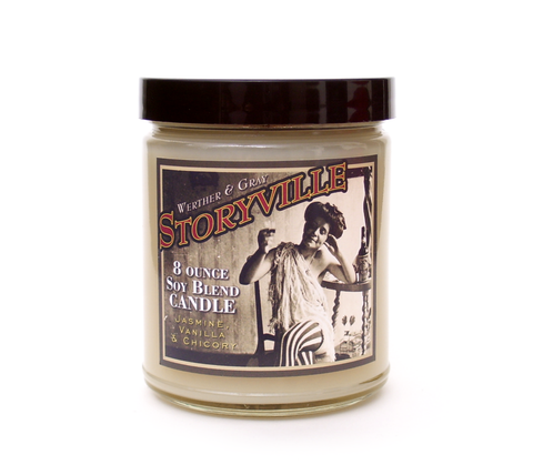 STORYVILLE, Scented Candle, 8oz Jar - Werther & Gray