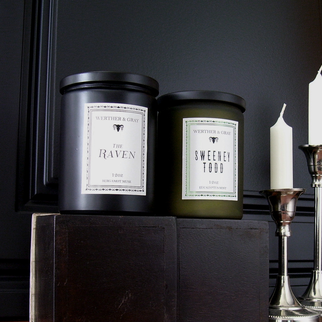 THE RAVEN, 12oz Scented Candle - Werther & Gray Artisan