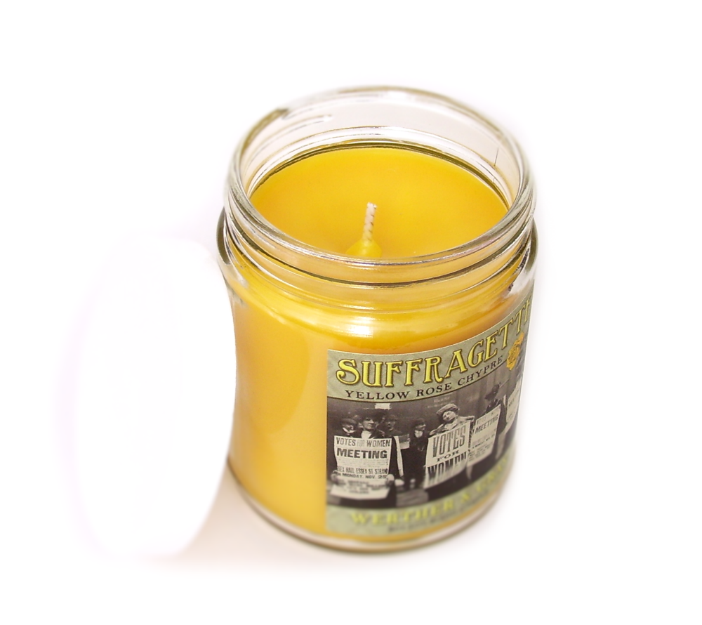 SUFFRAGETTE, Scented Candle, 8oz Jar - Werther & Gray