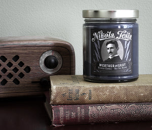NIKOLA TESLA, Scented Candle, 8oz Jar - Werther & Gray Artisan