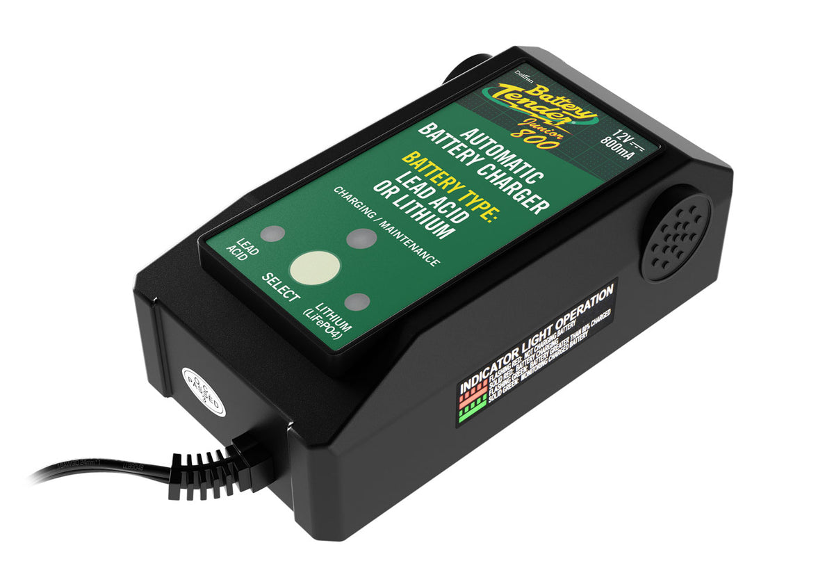 Battery Tender Junior 12V 800 Selectable Lead Acid/Lithium Charger