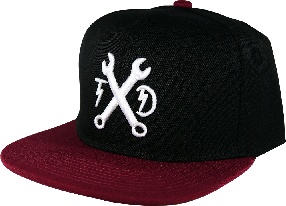 Wrenches Snapback - Black/Maroon