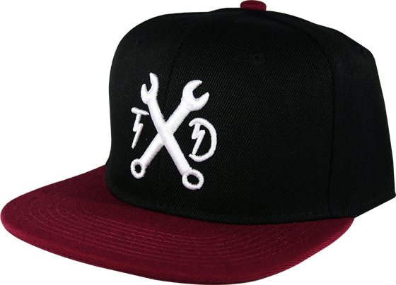 YOUTH Wrenches Snapback - Black/Maroon
