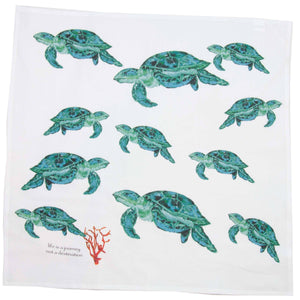 "Sea Turtle 28"" Square Towel"