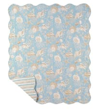 Island Style Quilted Throw - Natural Shells
