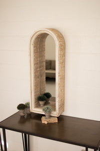 Wood Arched Framed Mirror Enclave