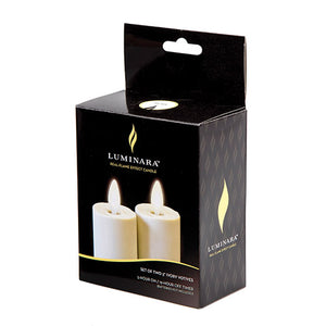Luminara® Flameless Candle - Votive - Ivory - 3 in - 2 pieces