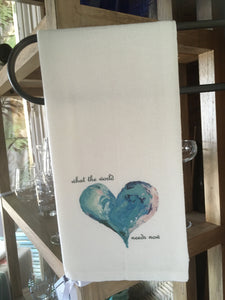 Heart with Quote Dishtowel