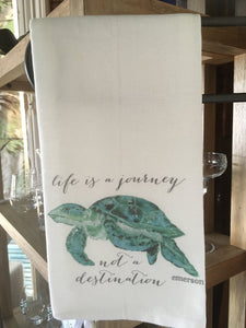 Turtle With Quote Dishtowel