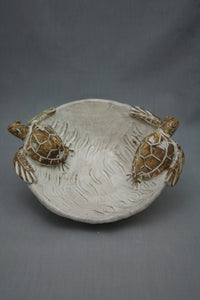 Artisan Ceramic Turtle Bowl - Small