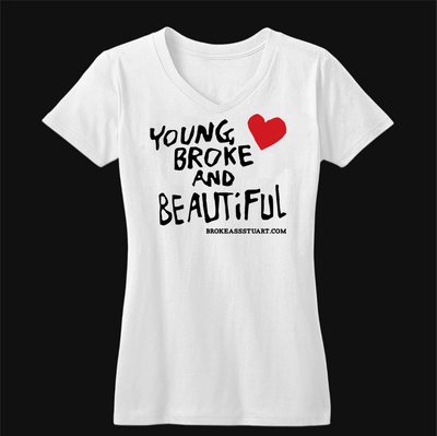 Young Broke Beautiful Heart Women's V