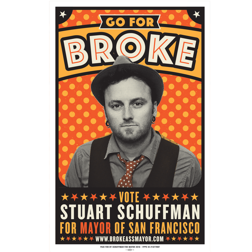 "Go For Broke Campaign Poster (15.25""x24"")"