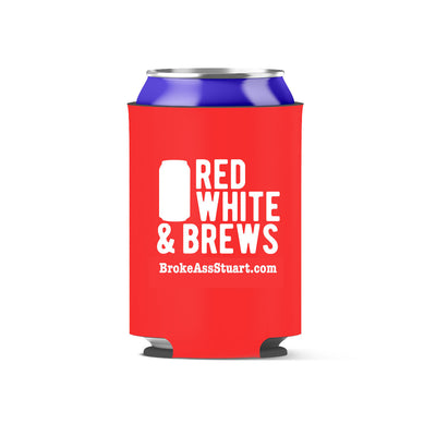 Red White and Brews Koozie