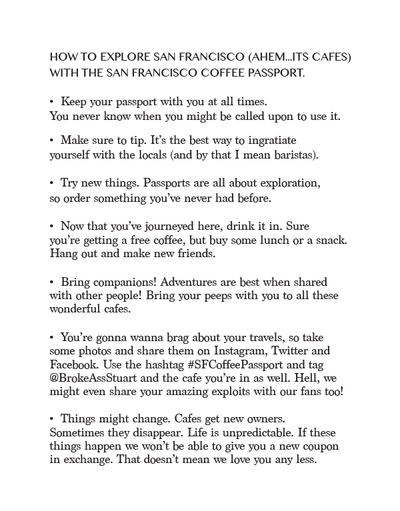 San Francisco Coffee Passport (2018)