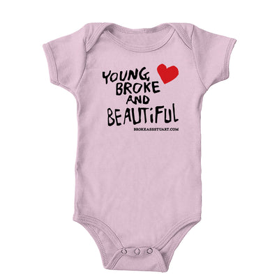 Young Broke Beautiful Heart Onesie