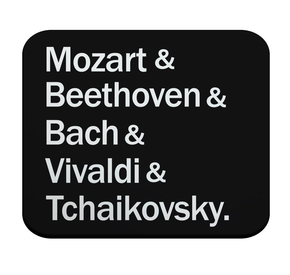 Classical Composers Mouse Pad by Epicdelusion