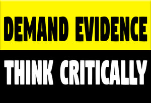 Demand Evidence Think Critically Magnet by Epicdelusion