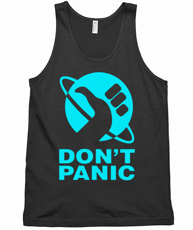 Don't Panic Tank Top by Epicdelusion