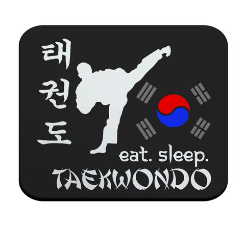 Eat Sleep Taekwondo Premium Mouse pad by Epicdelusion