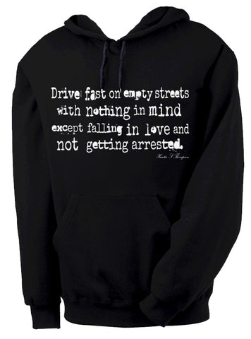 Hunter S. Thompson Empty Streets Hooded Sweatshirt