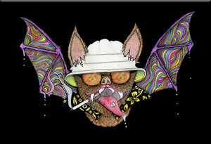 Hunter S. Thompson Bat Magnet by Epicdelusion