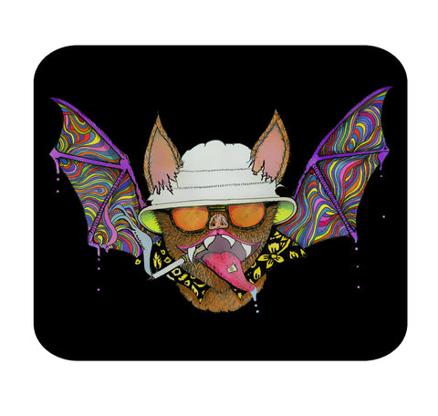 Hunter S. Thompson Psychedelic Bat Premium Mouse Pad