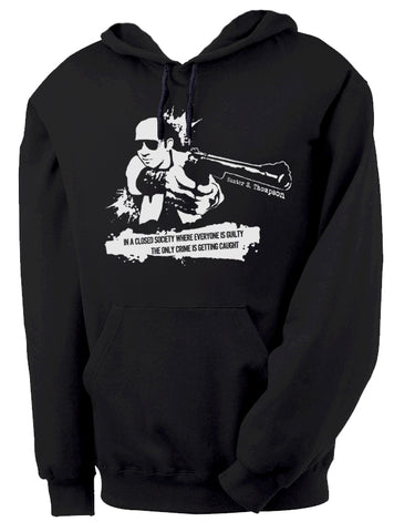 Hunter S. Thompson Closed Society Hoodie by Epicdelusion