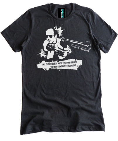 Hunter S. Thompson Closed Society Premium Tee by Epicdelusion