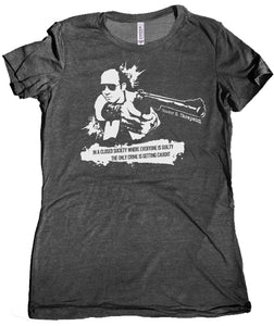 Hunter S. Thompson Closed Society Women's Tee by Epicdelusion