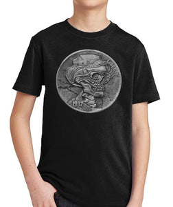 Hunter S. Thompson Hobo Nickel Kid's Shirt by Epicdelusion